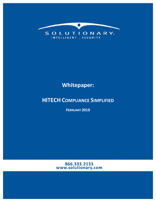 HITECH Compliance Simplified