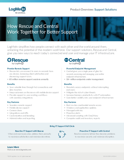 How Central and Rescue Work Together for Better Support