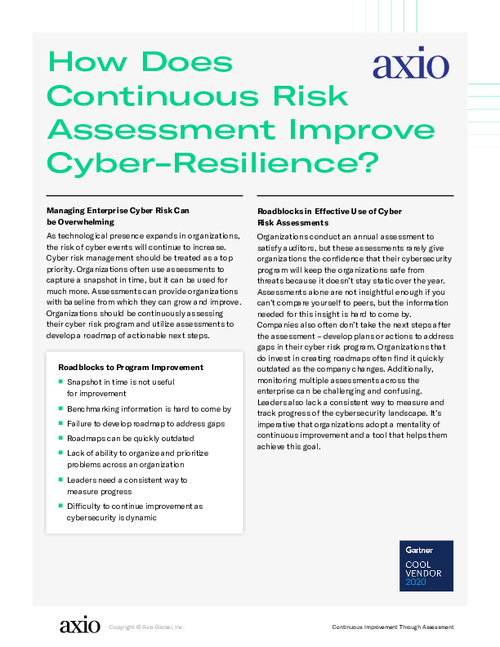 How Does Continuous Risk Assessment Improve Cyber-Resilience?