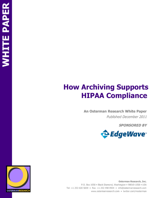 How Email Archiving Supports HIPAA Compliance