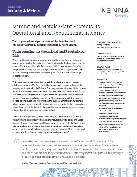 How a Mining and Metals Giant Protects Its Operational and Reputational Integrity