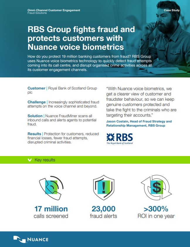 How RBS Group Fights Fraud and Protects Customers
