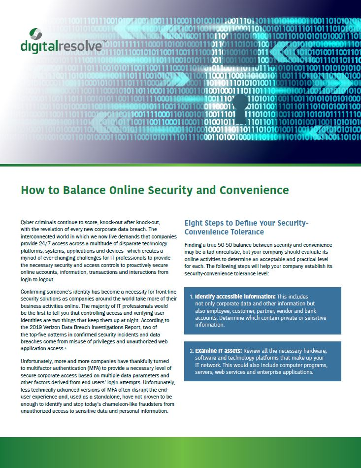 How to Balance Online Security and Convenience