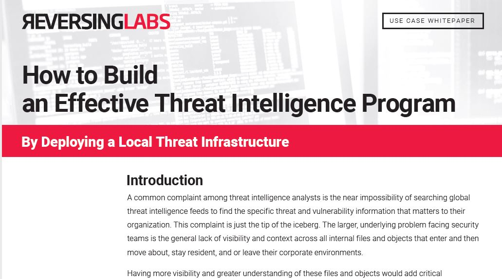 How to Build an Effective Threat Intelligence Program