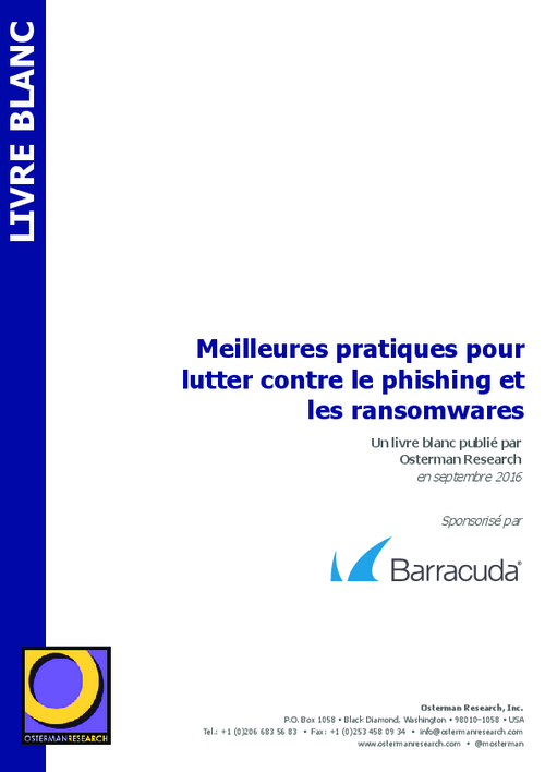 How to Deal with Phishing and Ransomware (French Language)