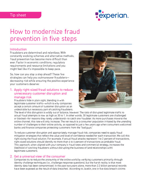 How to modernize fraud prevention in five steps