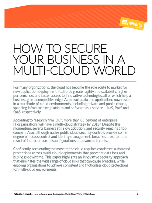 How to Secure Your Business in a Multi Cloud World