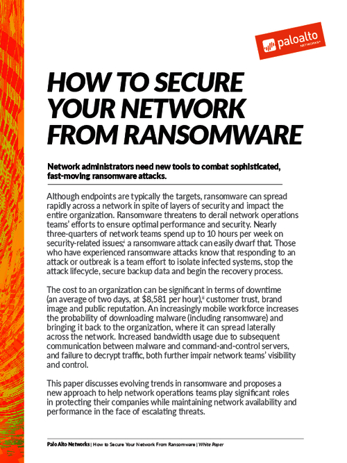 How to Secure your Network from Ransomware