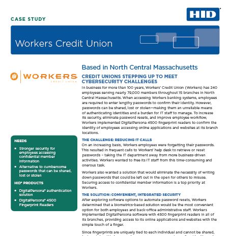 Secure Access for Members & Employees for Credit Unions