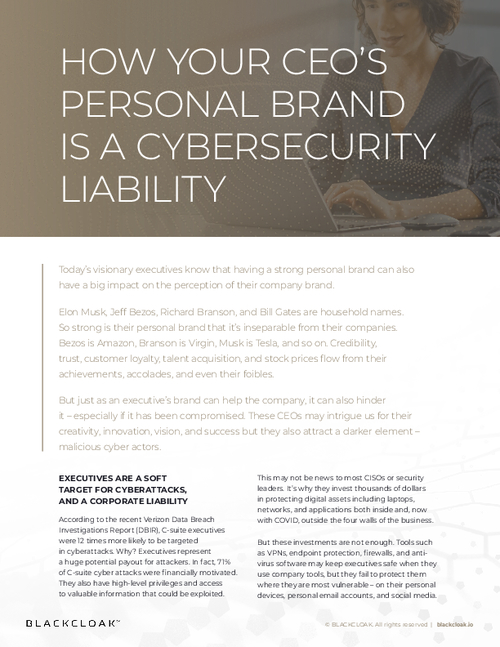 How Your CEO's Personal Brand is a Cybersecurity Liability