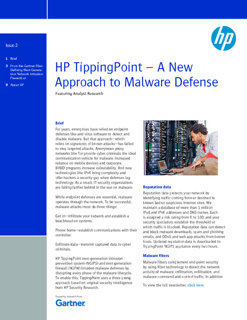 HP TippingPoint - A New Approach to Malware Defense