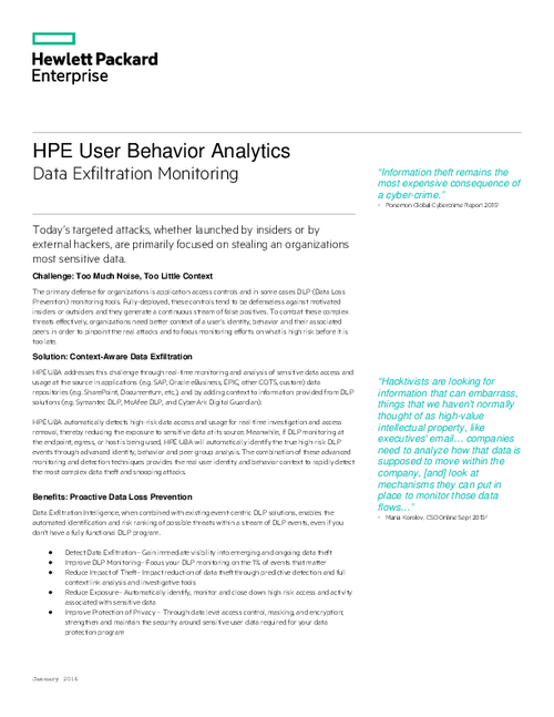 HPE User Behavior Analytics