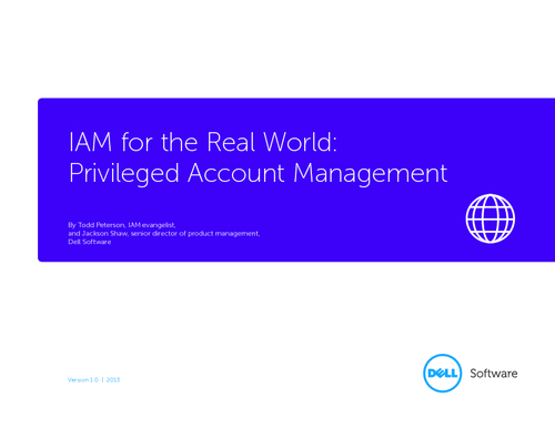 IAM for the Real World - Privileged Account Management