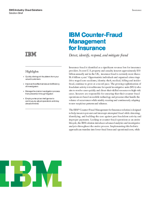 Counter-Fraud Management for Insurance