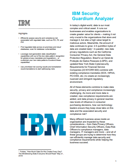 IBM Security Guardium Analyzer