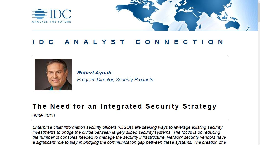 IDC Analyst Connection: The Need for an Integrated Security Strategy