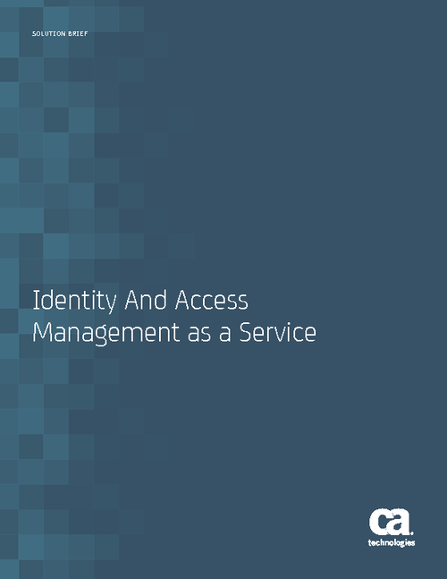 Identity and Access Management as a Service