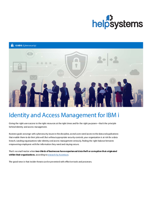 Identity and Access Management for IBM i
