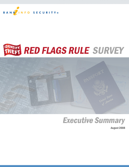 Identity Theft Red Flags Rule Survey: Executive Summary