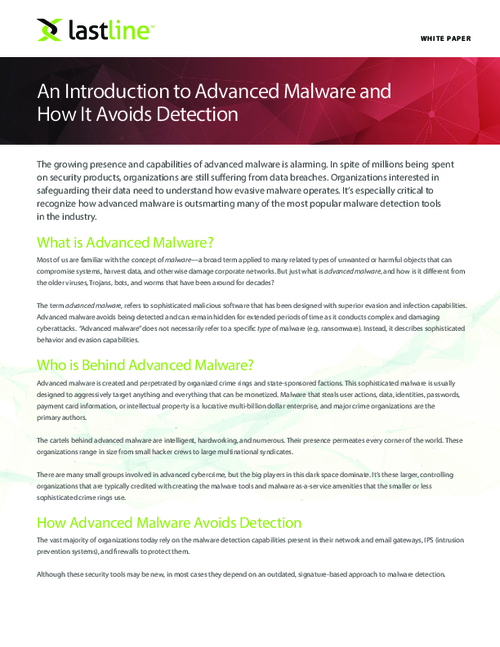 The Illusive and Intrusive Advanced Malware; How it Avoids Detection