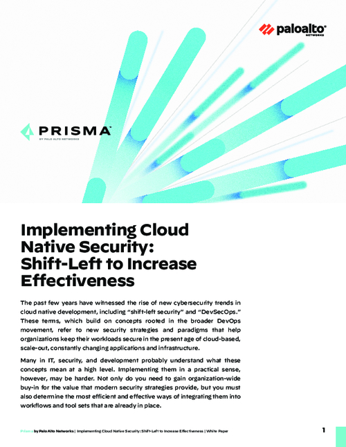 Implementing Cloud Native Security: Shift-Left to Increase Effectiveness
