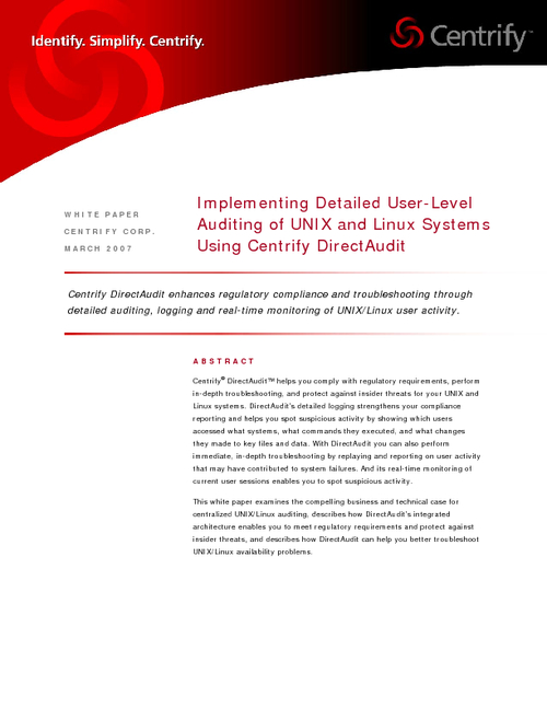 Implementing Detailed User-Level Auditing of UNIX and Linux Systems
