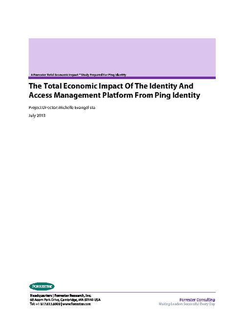 Implementing an Identity and Access Management Platform: The Economic Impact