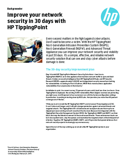 Improve Your Security in 30 Days