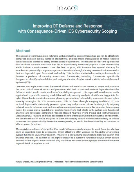 Improving OT Defense and Response with Consequence-Driven ICS Cybersecurity Scoping