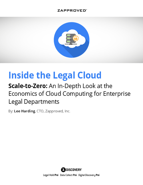 Scale-to-Zero: An In-Depth Look at the Economics of Cloud Computing for Enterprise Legal Departments