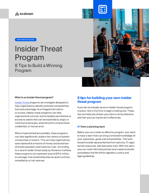 Insider Threat Programs: 8 Tips to Build a Winning Program