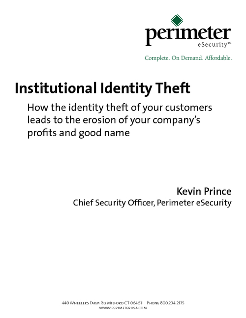 Institutional Identity Theft