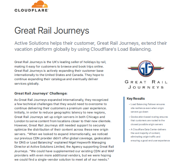 How to Optimize Website Delivery to Global Travel Customers: Great Rail Journeys Case Study