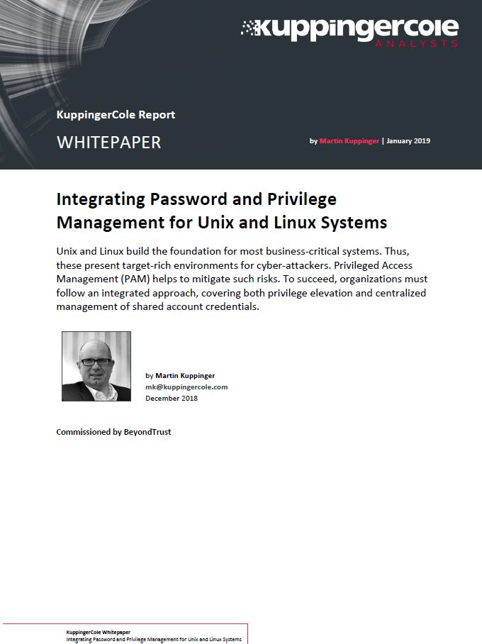 2019 Integrating Password and Privilege Management for Unix and Linux Systems