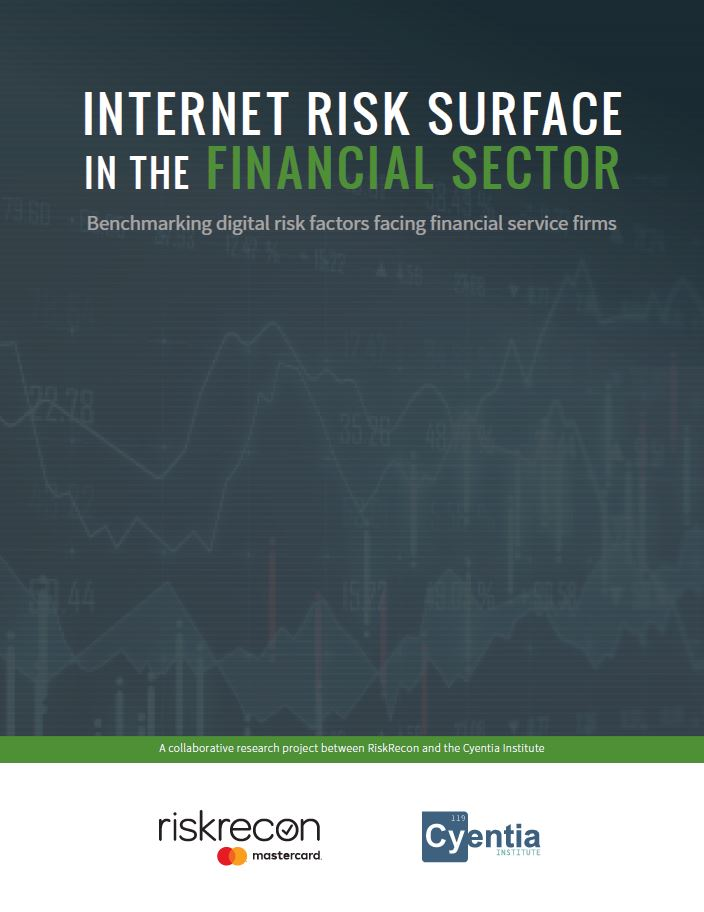 Internet Risk Surface in the Financial Sector