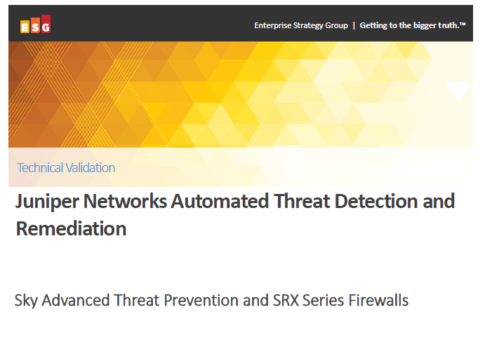 Juniper Networks Automated Threat Detection and Remediation