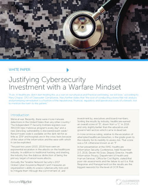 Justifying Cybersecurity Investment with a Warfare Mindset