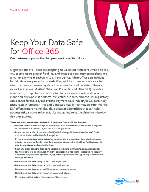 Keep Your Data Safe for Office 365