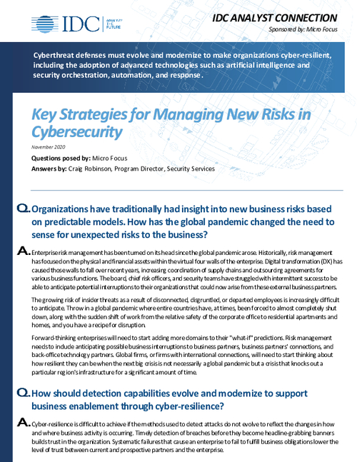 Key Strategies for Managing New Risks in Cybersecurity