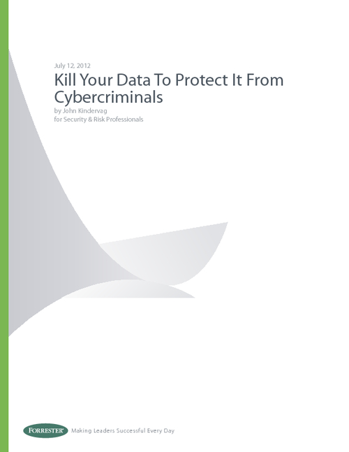 Kill Your Data To Protect It From Cybercriminals
