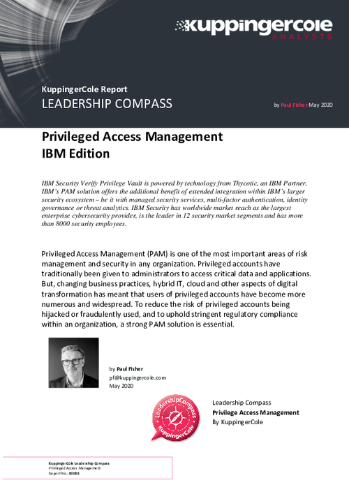Kuppingercole Leadership Compass for Privileged Access Management -PAM