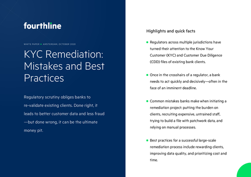 KYC Remediation: Mistakes and Best Practices