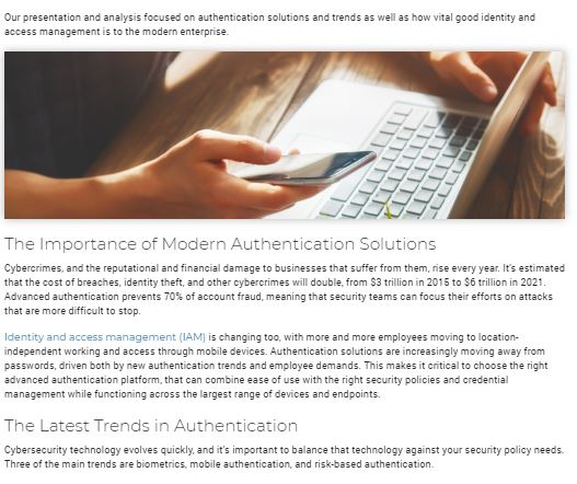 The Latest Trends in Advanced Authentication