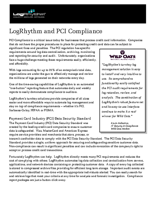 Log Management & PCI