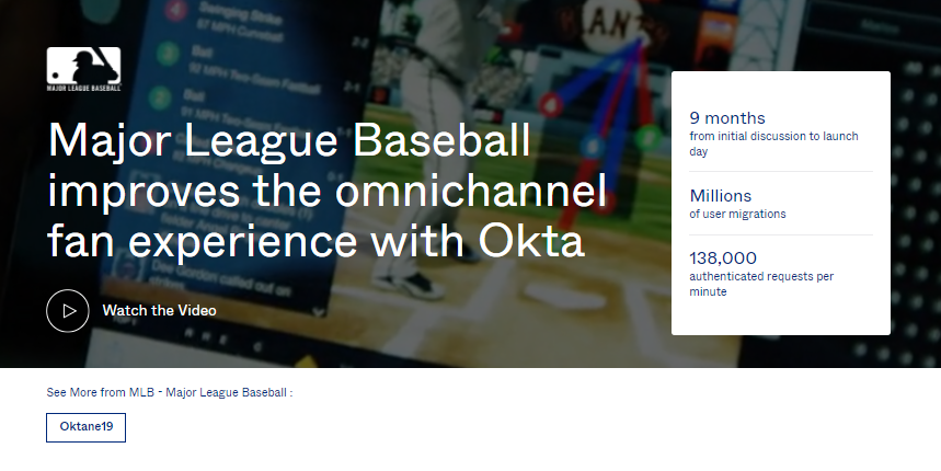 Major League Baseball improves the omnichannel fan experience with Okta