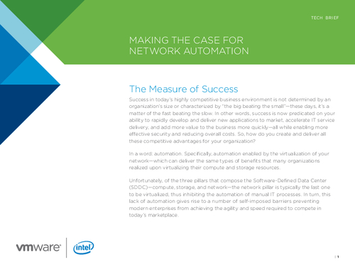 Making a Case for Network Automation