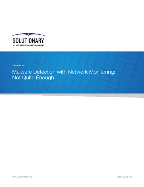Malware Detection with Network Monitoring: Not Quite Enough