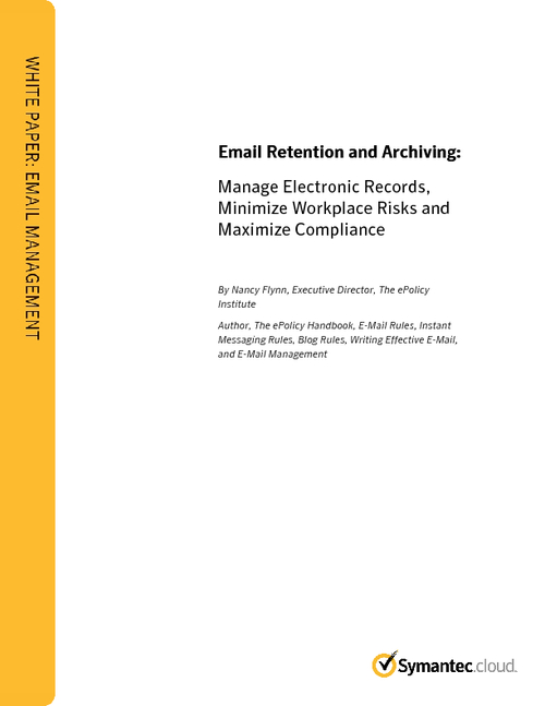 Manage Electronic Records, Minimize Workplace Risks & Maximize Compliance