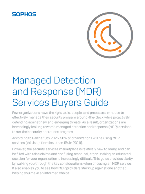 Managed Detection and Response (MDR) Services Buyers Guide