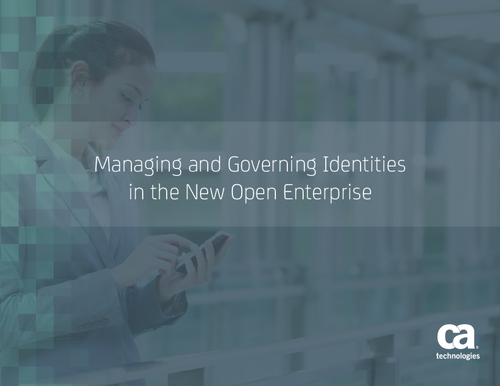 Managing and Governing Identities in the New Open Enterprise